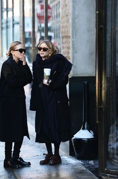 MARY-KATE + ASHLEY OUTSIDE THE ROW F/W 2014 PRESENTATION - Olsens Anonymous #pixiemarket.com