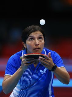 Day 1:  Table Tennis - Women's Singles - Berta Rodriguez of Chile
