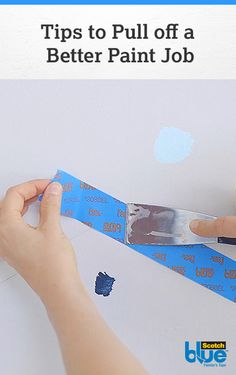 Tip: Use a putty knife to cut ScotchBlue™ Painter's Tape at the best angle for your pattern of choice. Our Guide to Taping shares more helpful more tips, tricks, and ideas on how you can pull off a better paint job.