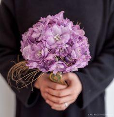 Purple / mauve bridal bouquet created at the Zita Elze Design Academy by Jo Eun Saem in the Advanced Wedding Design master class Photo: Julian Winslow 1886 c_wm