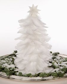 Martha shows you how to craft a beautiful feather Christmas tree, a wonderful decoration and Handmade Holiday gift.