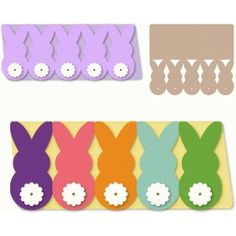 Silhouette Design Store: bunnies backside row easter long card