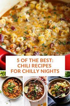 Five of our favorite, delicioso chili recipes to keep yall warm on wintery nights. Best Crockpot Recipes, Chili Recipes, Fall Recipes, Dinner Recipes, Favorite Chili Recipe, Favorite Recipes, Winter Food, Game Night, Super Bowl