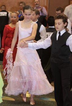 4b3d2e0d4 Details about Girl Custom Pre-Owned Ballroom Smooth Standard Dance Dress 10-12  yrs SLIM