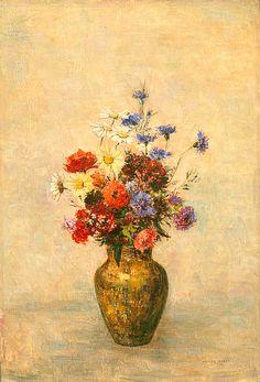 Odilon Redon Flowers In A Vase