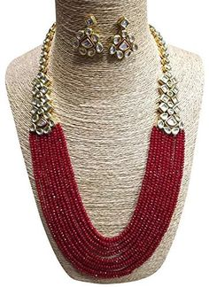 Buy SIMAYA FASHIONISTA Maroon Beads Fashionable Necklace Set with Top Earrings for Women(SF925) Online at Low Prices in India   Amazon Jewellery Store - Amazon.in Fashion Necklace, Necklace Set, Women's Earrings, Jewelry Stores, Beads, Stuff To Buy, Beading, Bead, Pearls