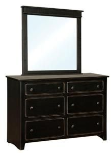 Amish Pine Wood Shaker Dresser with Optional Mirror