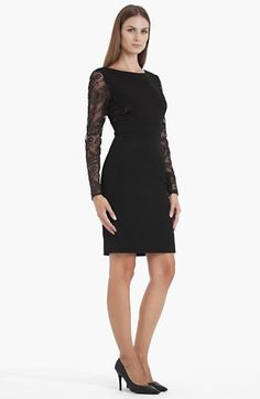 JS Collections Lace Detail Sheath Dress available at #Nordstrom