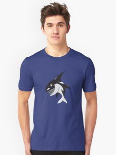 Angry Killer Whale over Ocean Blue • Also buy this artwork on apparel, stickers, phone cases, and more.