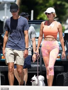 Ivanka Trump shows off her toned figure in crop top while walking her dog | Daily Mail Online