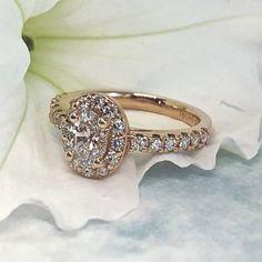 Winnipeg Engagement Ring Journal Rose Gold Halo Ring With Oval Cut Diamond - Omori Diamonds Jewelry Rings, Jewellery, Halo Rings, Druzy Ring, Wearable Art, Antique Jewelry, Lab, Sapphire, Diamonds