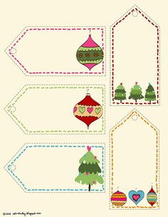 Christmas printable tags