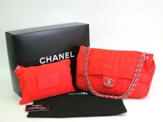 #Chanel Matrasse Chain Shoulder Bag Mademoiselle Nylon Orange(BF065123). All of eLADY's items are inspected carefully by expert authenticators who have years of experience. For more pre-owned luxury brand items, visit http://global.elady.com