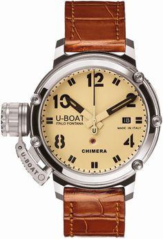 U-Boat Watch Chimera 43 Limited Edition #bezel-fixed #bracelet-strap-aligator…