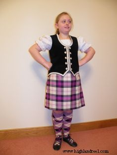 Kilt with black vest #ross #purple #tartan
