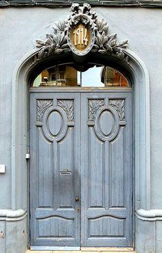New Blue Exterior Door Colors Entrance Ideas Grand Entrance, Entrance Doors, Doorway, Entrance Ideas, Exterior Door Colors, Exterior Doors, Knobs And Knockers, Door Knobs, Old Doors