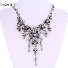 LOVBEAFAS 2017 Fashion Classic Maxi Statement Vintage Pirate Skeleton Skull Necklaces & Pendants Retro Rhinestone Punk Necklace #Punk fashion http://www.ku-ki-shop.com/shop/punk-fashion/lovbeafas-2017-fashion-classic-maxi-statement-vintage-pirate-skeleton-skull-necklaces-pendants-retro-rhinestone-punk-necklace/