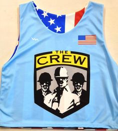 fd24c08b8 The Crew will be looking sharp in the American flag pinnies from Lightning  Wear. Made
