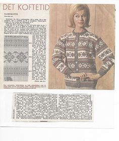 Bilderesultat for hestekofta Knitting Designs, Knitting Patterns, Crochet Patterns, Crochet Cardigan, Knit Crochet, Norwegian Knitting, Fair Isles, Vintage Knitting, Mittens