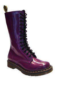 Dr. Martens - 14 eye - Purple dot patent - one zip