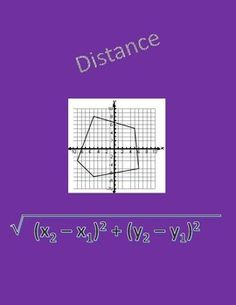Geometry worksheet covering the distance formula and distance.