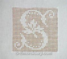 SKU 10372 Crochet monogram alphabet embroidery set - This machine embroidery designs set includes 26 crochet squares with monogram letters. Crochet Patterns Filet, Crochet Quilt, Crochet Cushions, Crochet Squares, Crochet Chart, Crochet Home, Thread Crochet, Crochet Motif, Crochet Doilies