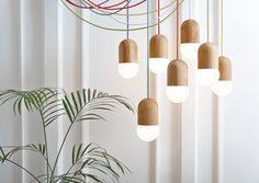 Product designer Katerina Kopytina has created the LightBean lamp made from oak.