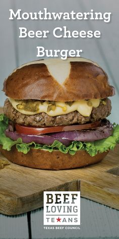 Grilling Recipes, Beef Recipes, Cooking Recipes, Beef Dishes, Food Dishes, Main Dishes, Beer Cheese Sauce, Cheese Burger, Hamburger Seasoning