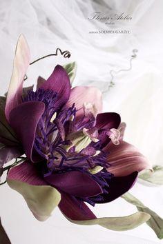 Flower Atelier #SolvitaGailite #madeinLatvia #passionflower #silkflower #puresilk #handmade #new #floweratelier #pasiflora #zidaziedi #rokudarbs #цветыизшелка #цветыизткани #ручнаяработа #цветокстрасти #пассифлора