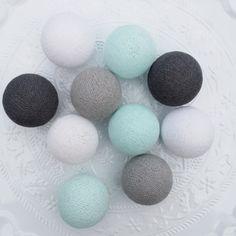 COTTON BALL LIGHTS | MINT | WIT | GRIJS Artificial Flower Arrangements, Artificial Flowers, Cotton Ball Lights, Soup Mugs, Baby Boy Rooms, Nursery Neutral, Handmade Baby, Blog, Pom Poms