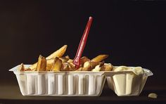 Dutch artist Tjalf Sparnaay has painting food since These are not, however, your regular run of the mill paintings. Tjalf Sparnaay says: I hope my paintings will allow the viewer to re-experience reality, to re-discover the Hyperrealism Paintings, Oil Paintings, Tjalf Sparnaay, Hyper Realistic Paintings, Food Painting, Mouth Watering Food, Dutch Painters, Dutch Artists, Still Life Art