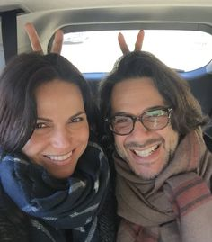 "Lana and Fred ""#HappyEaster to all! Love - L& F #Geeks"""