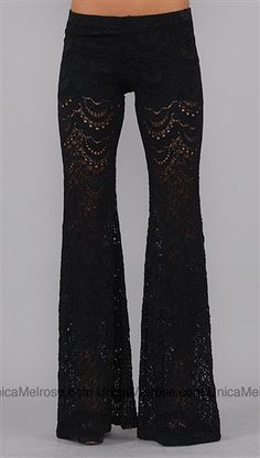 Nightcap Black Lace Pants