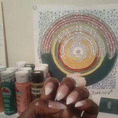 New set of acrylic nail tips by Ebony