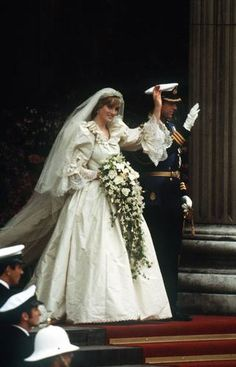 Lady Diana Frances Spencer leaving the church, Now known as Her Royal Highness Diana Princess of Wales. https://www.facebook.com/groups/260713314096465/