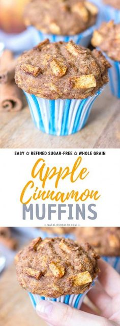 These Apple Cinnamon Muffins are packed with nutrients, flavored with warm spices and loaded with FRESH APPLES. Also, these are refined sugar-free and low in calories – perfect HEALTHY grab-and-go meal. #apple #applepie #healthyrecipes #applesauce #muffins #healthymuffins #healthysnack #snack #kidslunchbox #backtoschool #cinnamon #easyrecipes #sugarfree