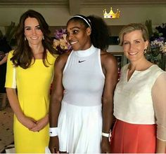 The Duchess of Cambridge and the Countess of Wessex with Serena Williams