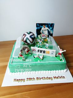 Brazuca FIFA 18 football soccer cake