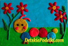 Картины из пластилина. » Детские поделки. Детский сайт с поделками из бумаги и фетра.