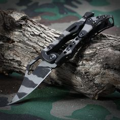 SR 2010C Mini Folding Knife with Camouflage Pattern and Mechanical Lock-4.41 and Free Shipping| GearBest.com