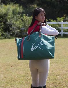 Weekender Tote Bag Gym Bag Shopping Bag Equestrian Tote