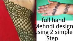 Full hand Eid-ul-fiter henna design tutorial || June 2018