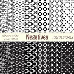 Black & White Morocco Arabesque Digital Paper by DigitalStories, €2.60