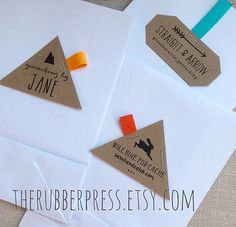 Geocaching and Letterbox custom stamps by theRUBBERpress on Etsy