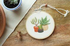 MADE TO ORDER Cactus Hoop Art Cactus Art Embroidery Hoop