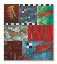 Michael James Studio Quilts Selected work 2000 - 2010 mixed media; hand- and machine-sewn