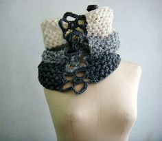 PDF PATTERN Crochet Cowl Snood Ombre Circle by PATTERNSbyFAIMA