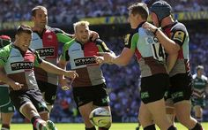 Champions: Harlequins edged past Leicester to win the Premiership final Photo: REUTERS