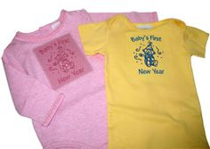 Embroidery Library Projects - tips on embroidering baby garments