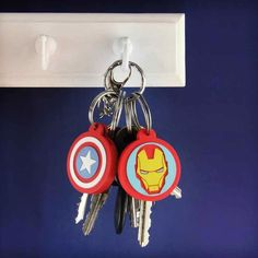 Marvel Avengers Iron Man and Captain America Key Covers